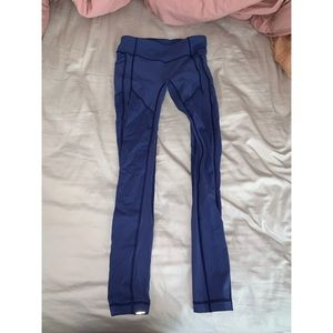 """Lululemon All The Right Places 28"""" Low Rise Blue"""
